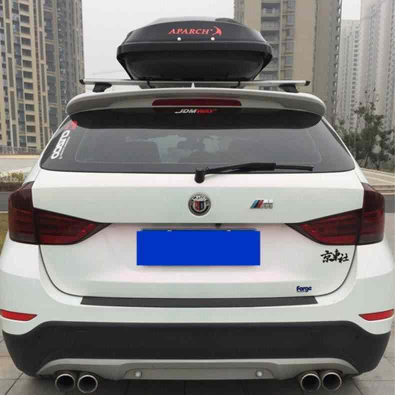 สำหรับ BMW X1 E84 สปอยเลอร์ 2015-2018X1 E84 สปอยเลอร์ ABS คุณภาพสูงวัสดุด้านหลัง Primer สีด้านหลังสปอยเลอร์