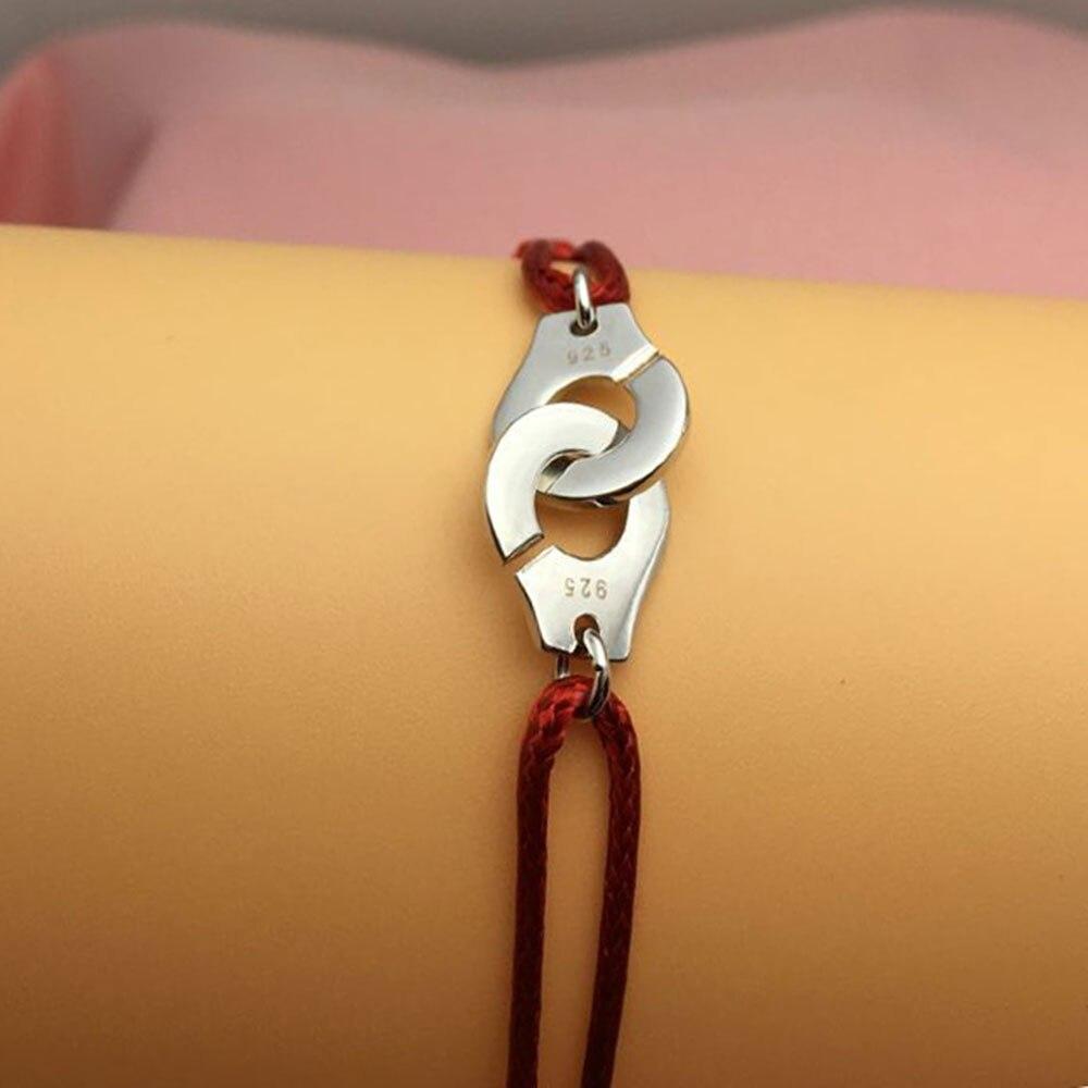 100% 925 narukvica sterling srebra za muškarce žene s narukvicom od - Modni nakit - Foto 5