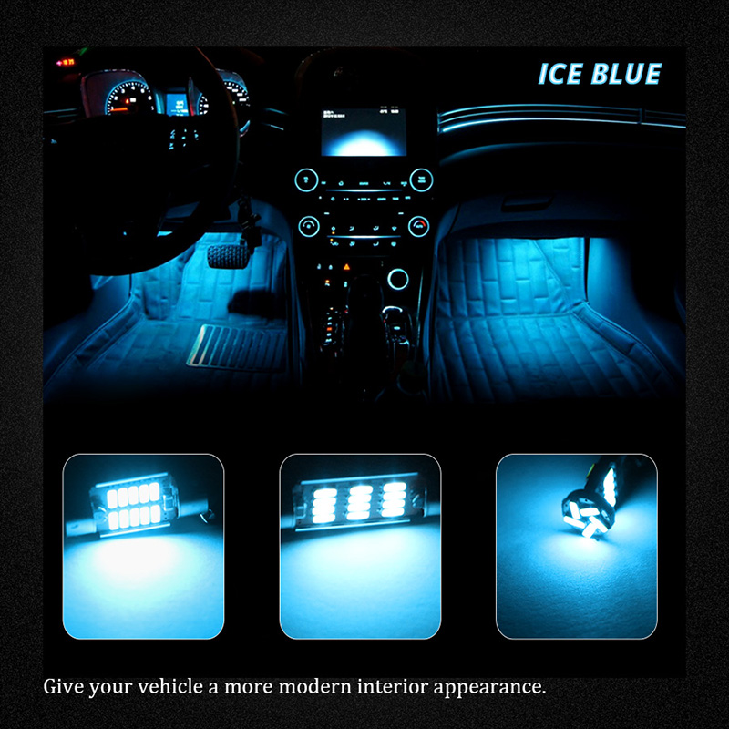 Wolflamp 17Pcs Ice Blue White Canbus LED Interior Car Lights For 2004 2010  BMW X3 E83 Map Light Dome Lamp Door Glove Box Bulb In Signal Lamp From ...