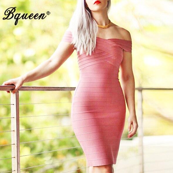 Bqueen 2017 Nova kratka haljina Bodycon haljina ljeto na ramenu, - Ženska odjeća - Foto 1