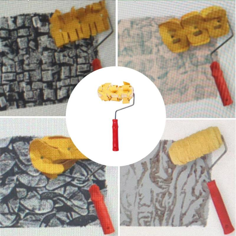 DIY Printing Pattern Rubber Roller Decoration Paint Wall Embossing Roller For Home Painting Brush Wall Paint Roller