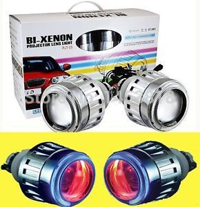 Круговой ксенон 35 Вт H1 H4 H7 H11 лампа 2,8 дюйма g5 Биксеноновые HID проектор свет объектив 4300 К 5000 К 6000 К 8000 К + CCFL Angel eyes