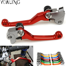 Red CNC Pivot Brake Clutch Levers for Honda CR 80R 85R 125R 250R CR125R CR250R CRF 125F 150R 450R CRF150R CRF450R CRF250R недорого