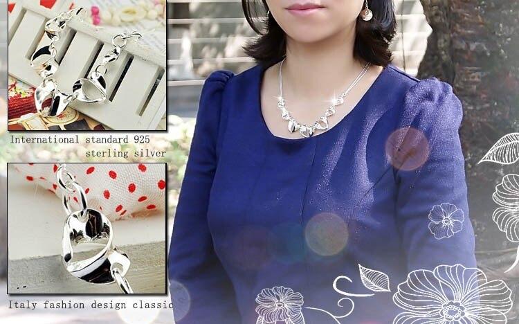 fashion perhiasan wanita kalung, padat asli 925 perak murni liontin - Perhiasan bagus - Foto 6