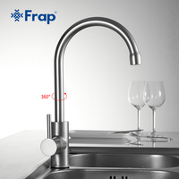 FRAP 1set High Quality Tall Deck Mount Kitchen Sink Faucet Mixer Cold Hot Water 360 Rotation