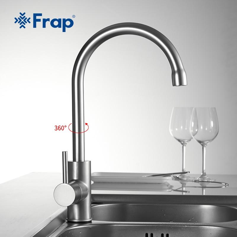 FRAP 1set High Quality Water Mixer Tap Kitchen Sink Faucet Torneira 360 Kitchen Sink Mixer Water  Tap Kitchen Mixer F4052