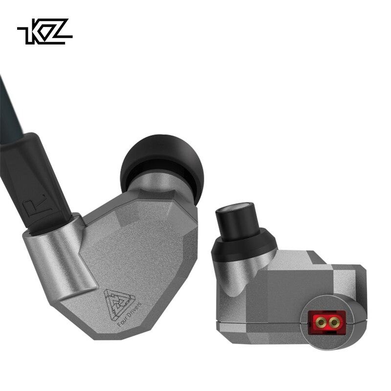 KZ ZS5 Doble Híbrido Dinámico y Balanced Armature Auriculares Deporte Cuatro Conductor En la Oreja los Auriculares Con Aislamiento de Ruido Auriculares de Música de Alta Fidelidad