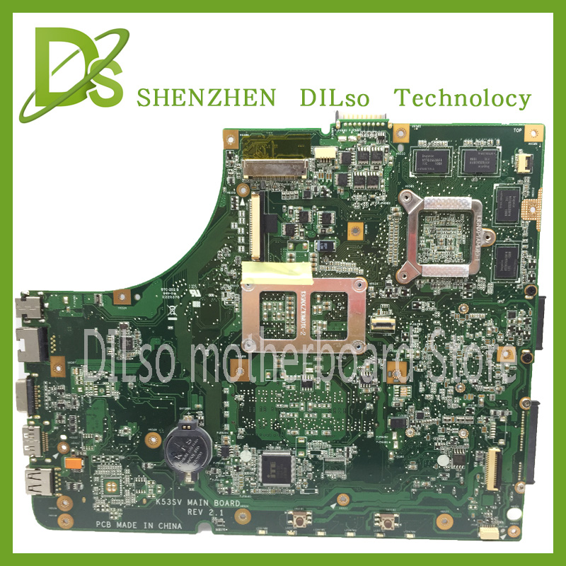 KEFU K53SV motherboard for ASUS K53S A53S X53S P53S K53SJ K53SC laptop motherboard rev2.1/3.0/3.1 motherboard GT540M tested auto paper auto take up reel system for all roland sj sc fj sp300 540 640 740 vj1000