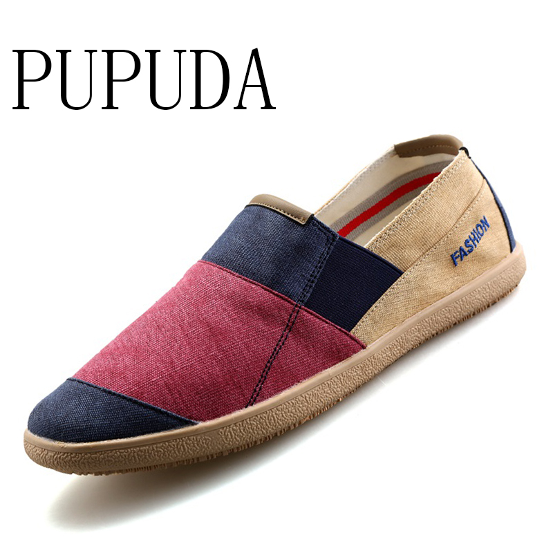 Linen Shoes Canvas Sneakers New-Loafers Espadrilles Men Wide-Slip Male Breathable Fashion