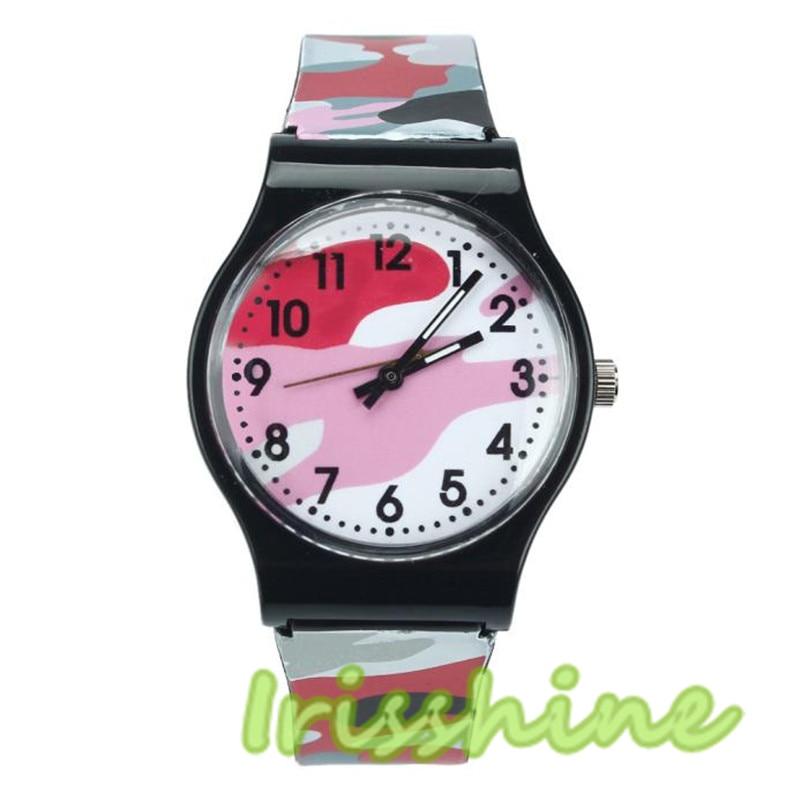 Irissshine Barn titta på Camouflage Watch Quartz Armbandsur för - Barnklockor - Foto 5