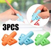 Hot Sale 3Pcs Writing Grip Kids Pencil Grip Scientific Pencil Holder Writing Aid Grip Posture Correction Tool|Pen refill|Education & Office Supplies -