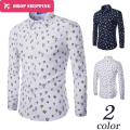 2016 Rushed Camisas Camisa Masculina 2017 Men's Fashion Slim Fit Casual Shirt Long Sleeve Shirts Printing Men Shirt, Asian Size