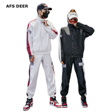 Zipper Jacket+Pant Set Fashion Sport Wear Men Women Tracksuit 2019 Suit Mens Male Female Jogger Two Pieces