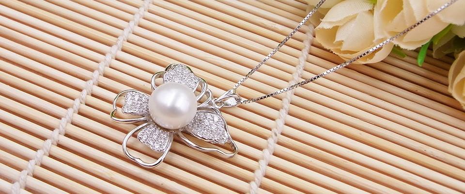 H&Y brand store sterling silver jewelry speical offer in july natural freshwater pearl women english lock long hoop earrings