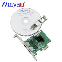 Winyao WY1000T2 PCI E X1 Dual Port 10 100 1000Mbps Gigabit Ethernet Network Card Adapter Broadcom