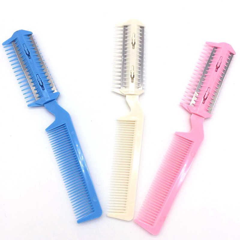 Hair Remover Pet Hair Trimmer Comb Cutting Cut Dog With 4 Blades Grooming Razor Thinning Hairbrush Comb Products For Cats Red