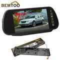 "BEMTOO Car Rear View License Plate with Night Vision Camera+ 7""Inch Car Monitor Rear View Mirror LCD Color Display Car Camera"