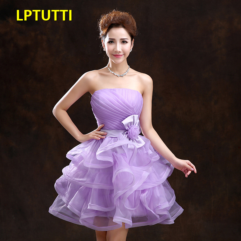 LPTUTTI Ruched New Sexy Woman Plus Size Social Festive Elegant Formal Prom Party Gowns Fancy Short