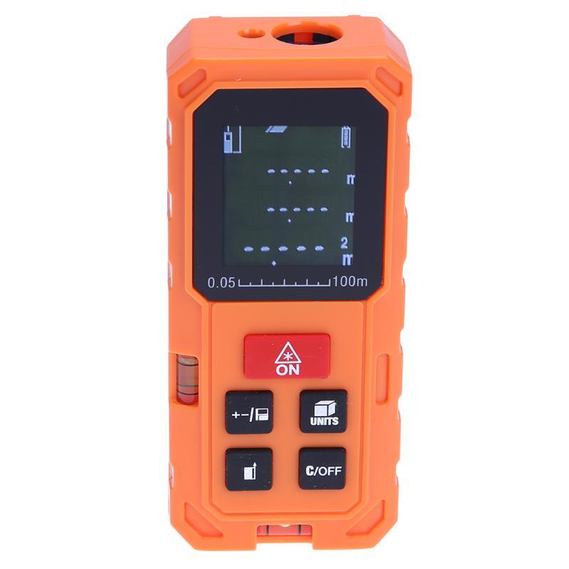 VKTECH Laser Distance Meter 100M Laser Rangefinder Laser Range Finder Volume Distance Area Meter Digital Handle Distance Meter ht 305 ht305 digital laser distance meter prices