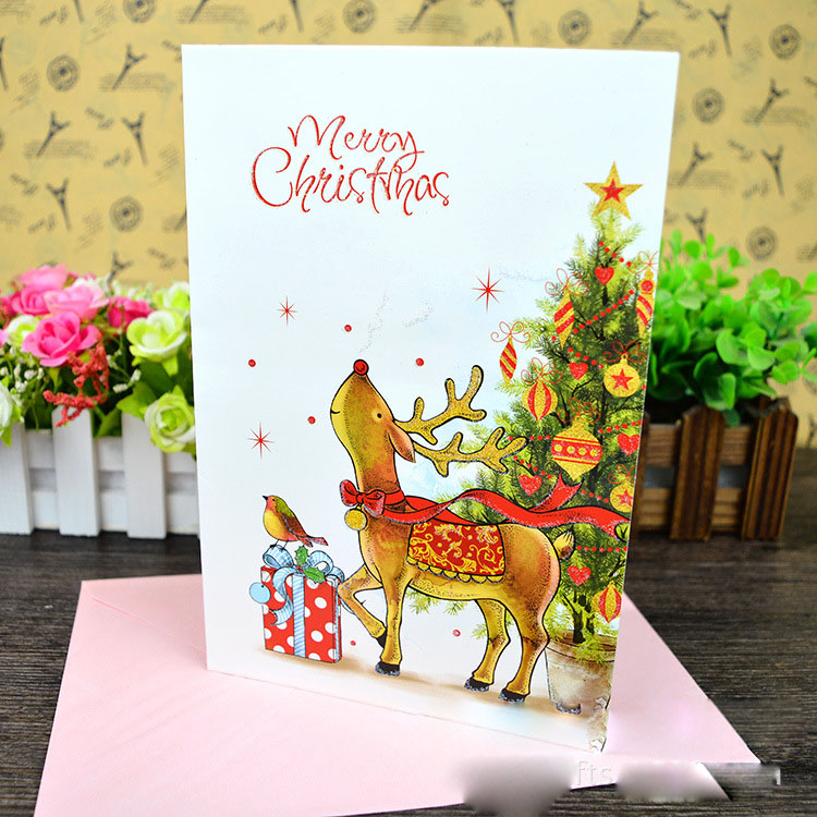 Best Price High Qulity Hand Made 8pcs Elk Cards Christmas Cards ...
