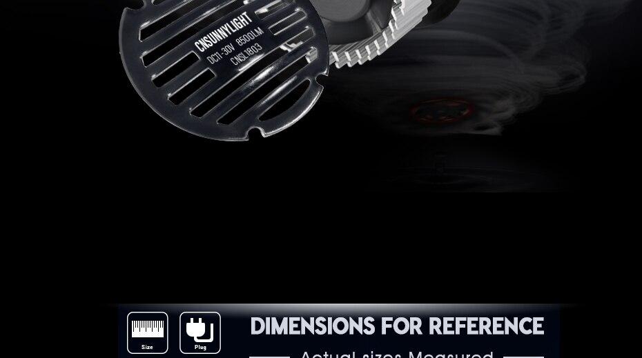 CNSUNNYLIGHT Car LED H4 Compact Headlight H7 H11 9005 HB3 9006 HB4 H1 Auto Bulbs 5500K Turbo Flip Led 8500lm H8 880 H27 Fog Lamp (12)