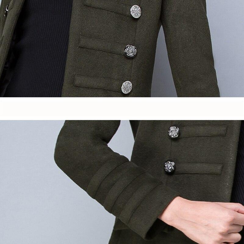 Invierno de gran tamaño S-3XL de lana de las mujeres chaqueta de abrigo de Otoño de 2018 de moda de alta calidad largo chaqueta ropa femenina ll582 - 6