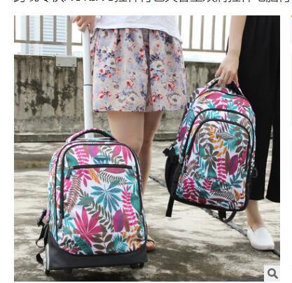 18 inch Wheeled backpack kids School bags On wheels Trolley backpack bag for teenagers Children School Rolling backpack for girl