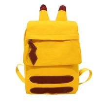 Cartoon canvas student bag, female Korean version, Harajuku style Japanese, soft sister cute Pikachu backpack travel