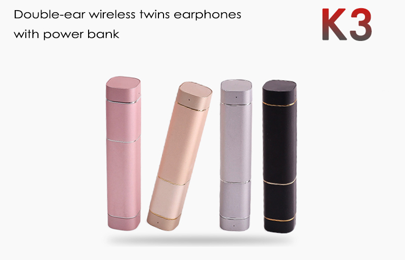 k3 twins earphone with power bank (2)