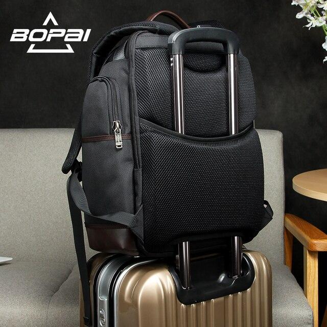 Americano famosa marca multi bolsos homens mochila grande capacidade fim de semana viagem de volta pacote de negócios dos homens super mochila masculino 4