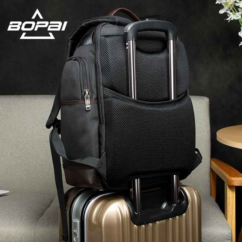 Image 5 - American Famous Brand Multi Pockets Men Backpack Large Capacity Weekend Travel Back Pack Business Men's Super Backpack Male Bag-in Backpacks from Luggage & Bags