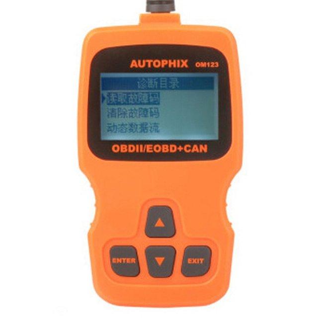 New Price Multi-Language Car Diagnostic Scanner OM123 OBD2 Engine Fault Code Reader Car Diagnosis Scan Tool Hand-held Tester Scanner