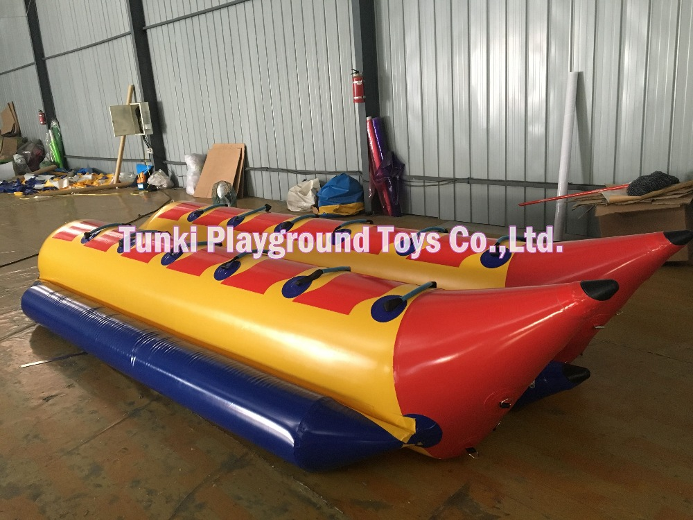 12 seats durable colorful inflatable banana boat