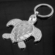 Novelty New Fashion Turtle KeyChain For Men Silver Animal Tortoise Keychain Women Bag Car Charm Trinket Key Ring Jewelry Gift цена и фото