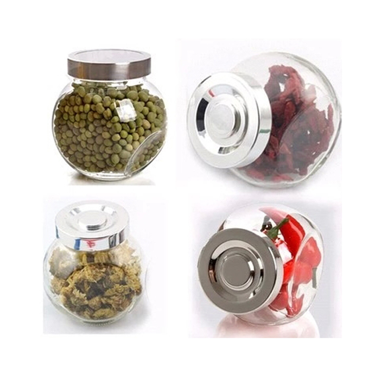 4 pieceslot glass jars sealed storage food container spice jar 180ml kitchen containers - Glass Spice Jars
