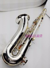 DHL free shipping New High quality Salmer Tenor 54 / B saxophone double reinforcement rugged instrument, nickel-plated