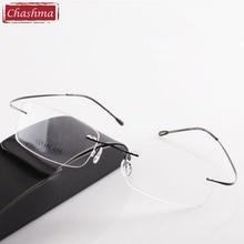 Chashma Brand Titanium Rimless Eye Glasses Read Glasses Ultra Light Myopia Optical Glasses Prescription Reading Glasses