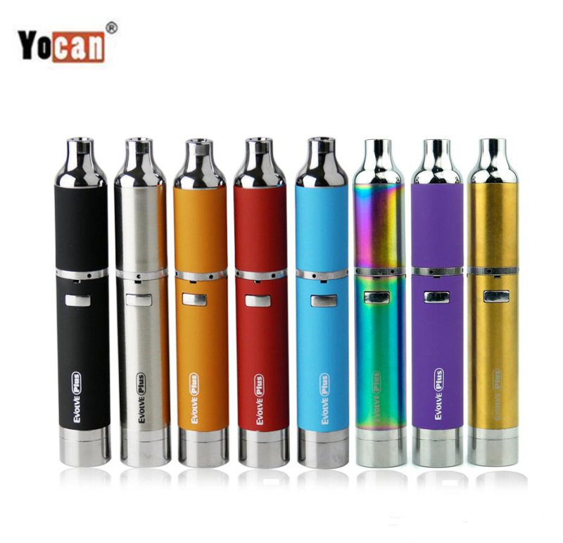 Original Yocan Evolve Plus Wax Kit Electronic Cigarette 1100mAh Battery Wax Herbal Atomizer with QDC Coil Vaporizer Vape Pen Kit