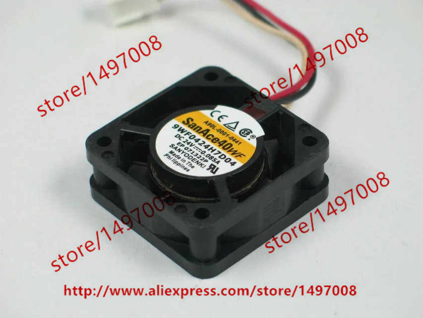 Free Shipping For SANYO 9WF0424H7D04 DC 24V 0.085A 3-wire 3-pin connector 60mm Server Square Cooling Fan free shipping 24v dc mig welding wire feeder motor single drive 1pcs