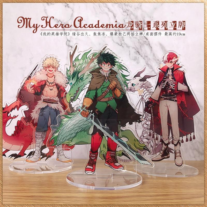 Hot Anime My Boku No Hero Academia Midoriya Izuku Todoroki Shoto Cosplay Acrylic Stand Figure Model Desk Decor Xmas Gifts   - title=