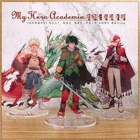Hot Anime My Boku No Hero Academia Midoriya Izuku Todoroki Shoto Cosplay Acrylic Stand Figure Model Desk Decor Xmas Gifts