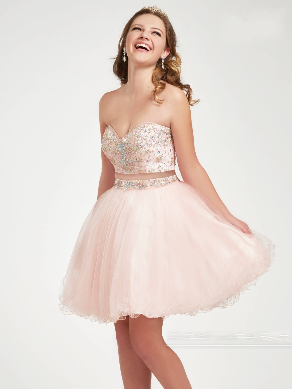 Two Piece Homecoming Dresses Short Cocktail Prom Dress ...