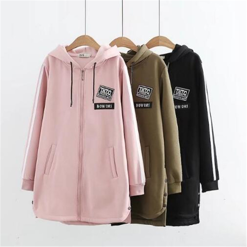 military Taille Longue 2018 Green Hiver pink 6xl Lettre Outwear La Femmes 5xl Plus Black Imprimer Manteau Causal Lâche Automne Appliques Mode 66zwUrq