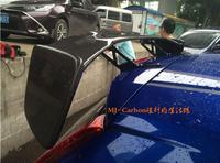 Carbon Fiber CAR REAR WING TRUNK LIP Double Deck SPOILER FOR 14 18 HONDA FIT / JAZZ GK5 2014 2015 2016 2017 2018 BY EMS