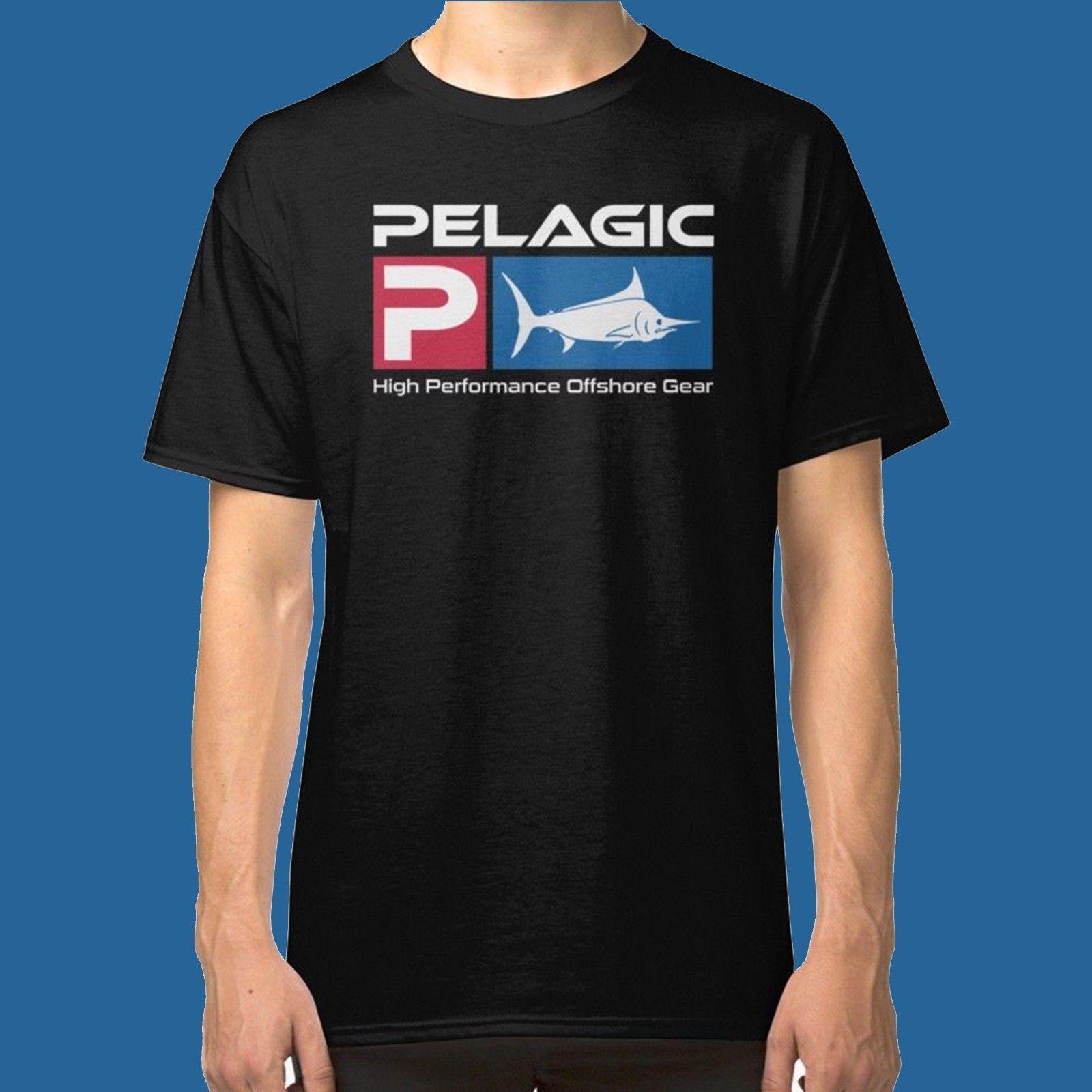 New Pelagic Fishing Offshore T-Shirt Graphic Tee Black Color Size S M L XL 2XL 100% cotton tee shirt,  tops wholesale tee