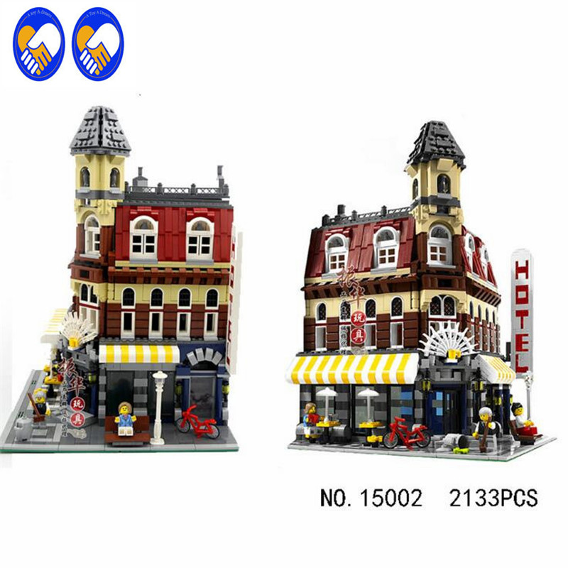 A Toy A Dream LEPIN 15002 City Street Cafe Corner Model Building Kits Assembling Blocks Kid Toy compatible 10182 Educational Toy a toy a dream lepin 02043 stucke city series airport terminal modell bausteine set ziegel spielzeug fur kinder geschenk junge