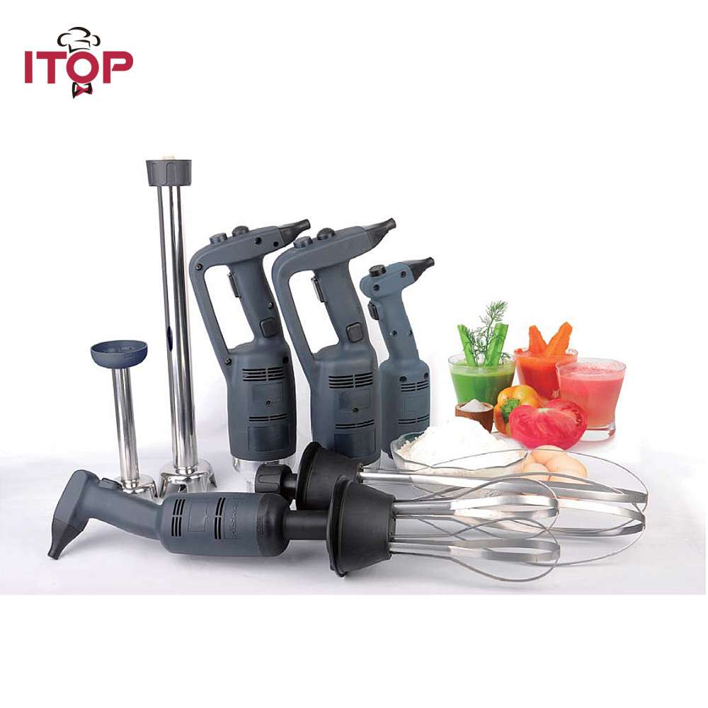 ITOP 500W High Speed Immersion Blender Commercial Heavy Duty Handheld Blender Smoothie Food Mixer Food Processors 110V/220V 767s heavy duty commercial blender mixer smoothie maker machine 2200w 2l 220v 110v various speed versatile