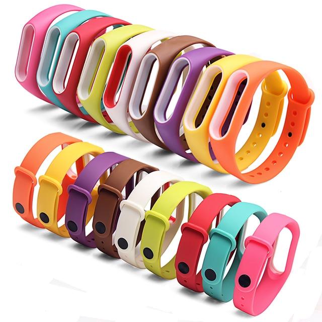 BOORUI Double color mi band 2 accessories pulseira miband 2 strap replacement silicone wriststrap for xiaomi mi2 smart bracelet 1