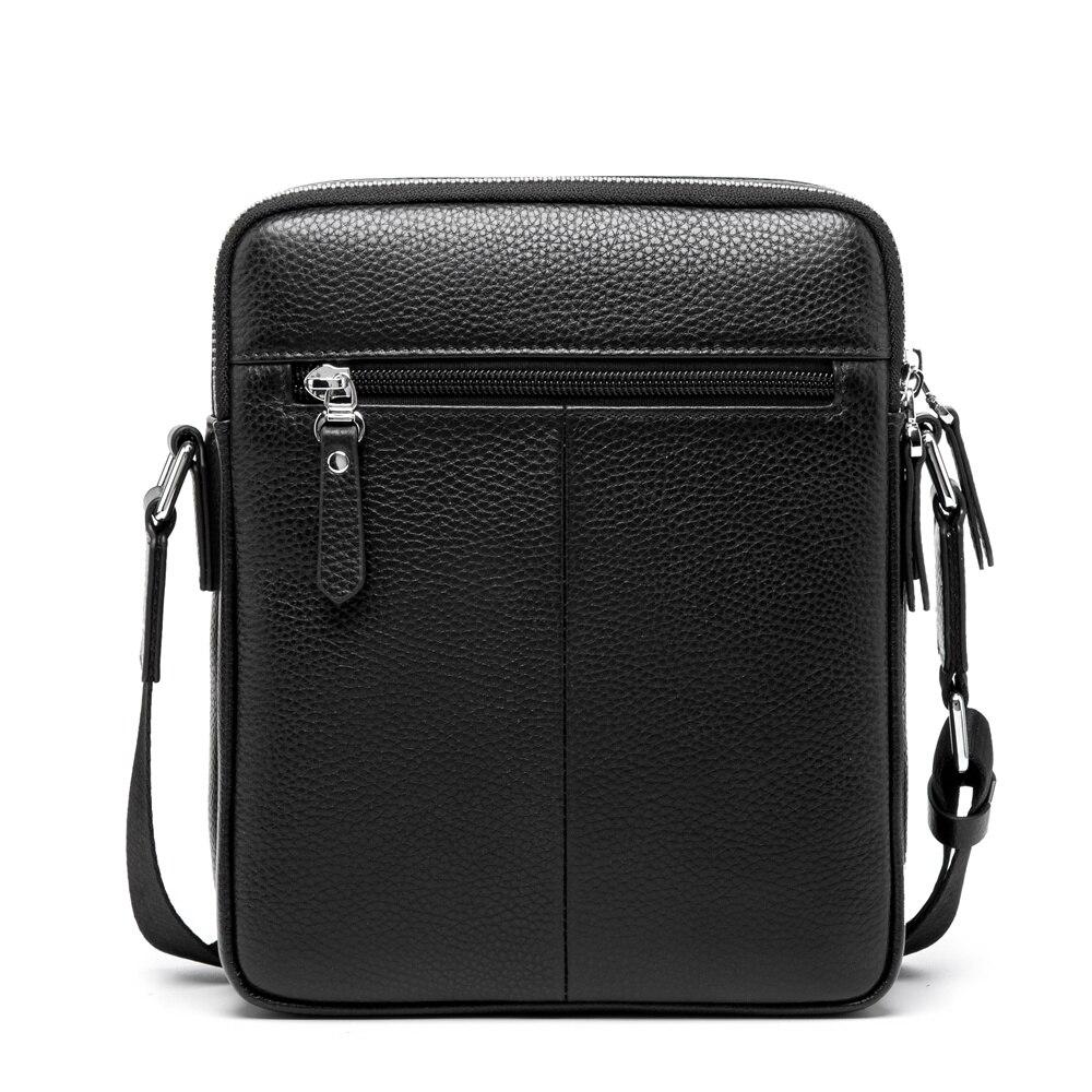 BISON DENIM mode männer tasche aus echtem leder männer messenger bags business männlichen kleine schulter taschen - 2