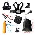 Kit de acessórios para a cabeça no peito gopro hero 5 flutuante aperto de pulso montar alça de mão bobber para go pro sjcam sj4000 câmera de ação 5